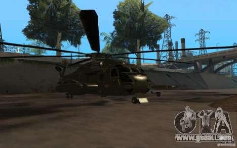 CH 53 para GTA San Andreas vista posterior izquierda