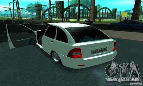 Lada Priora Sport para vista lateral GTA San Andreas