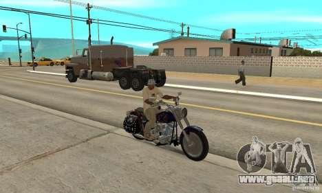 Harley Davidson FLSTF (Fat Boy) v2.0 Skin 4 para la visión correcta GTA San Andreas