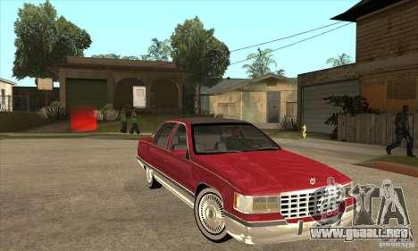 Cadillac Fleetwood 1993 para GTA San Andreas vista hacia atrás