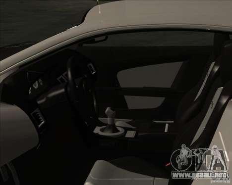 Aston Martin DBS 2009 para la visión correcta GTA San Andreas