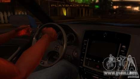 Lexus IS-F para visión interna GTA San Andreas