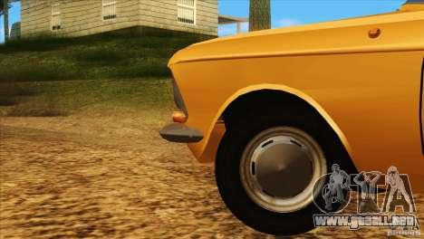 Moskvich 412 v2.0 para la vista superior GTA San Andreas