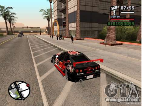 Nissan Skyline R34 para la visión correcta GTA San Andreas