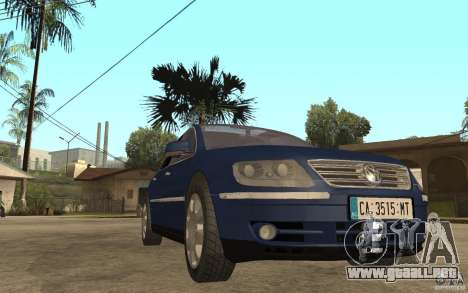 Volkswagen Phaeton 2005 para GTA San Andreas vista hacia atrás