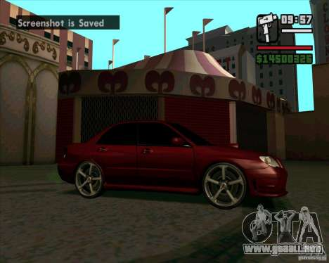 Subaru Impreza tuning para GTA San Andreas left