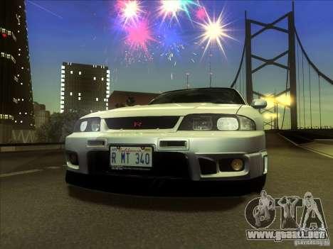 Nissan Skyline GTR BNR33 para GTA San Andreas vista posterior izquierda