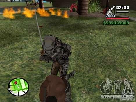 Predator para GTA San Andreas quinta pantalla