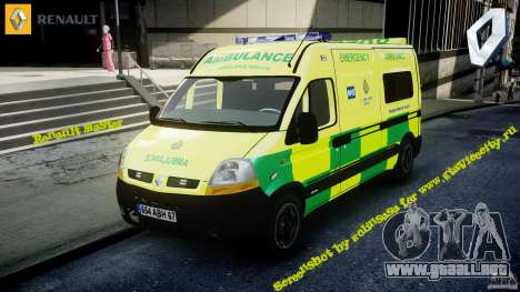 Renault Master 2007 Ambulance Scottish [ELS] para GTA 4