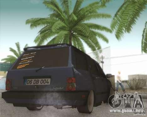 Tofas Kartal SLX para GTA San Andreas vista hacia atrás