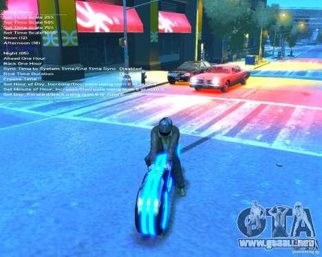 Motocicleta del trono (azul neón) para GTA 4 vista hacia atrás