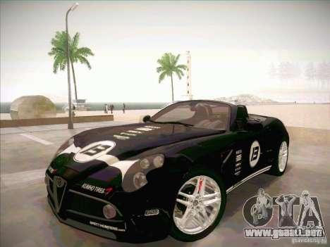 Alfa Romeo 8C Spider para visión interna GTA San Andreas