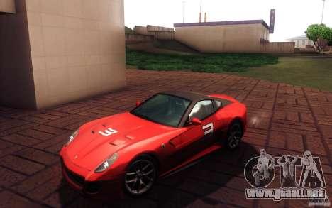 Ferrari 599 GTO 2011 para visión interna GTA San Andreas