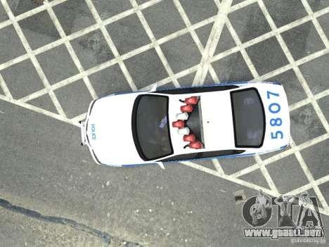 Chevrolet Impala NYCPD POLICE 2003 para GTA 4 vista hacia atrás
