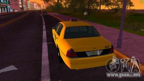 Ford Crown Victoria Taxi 2003 para GTA Vice City visión correcta