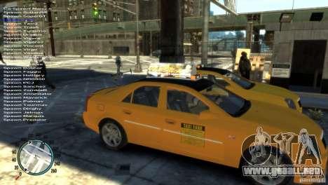 Cadillac CTS-V Taxi para GTA 4 visión correcta
