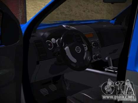 Nissan Frontier PMERJ para vista lateral GTA San Andreas