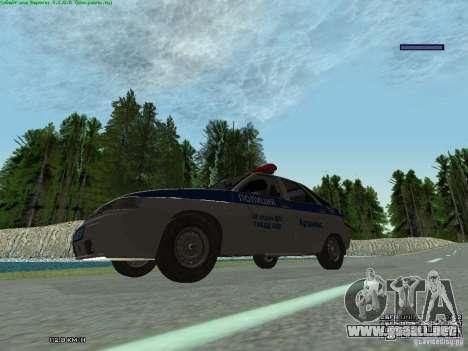 LADA 2112 DPS policía para GTA San Andreas vista hacia atrás