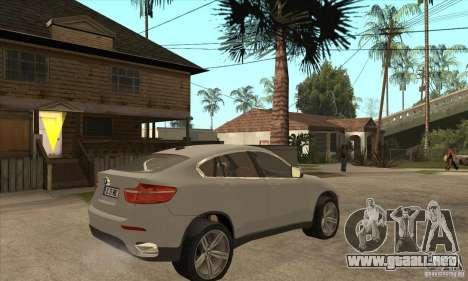 BMW X6 para la visión correcta GTA San Andreas