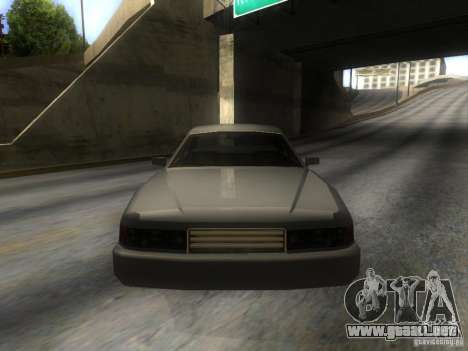 Merit Coupe para GTA San Andreas vista hacia atrás