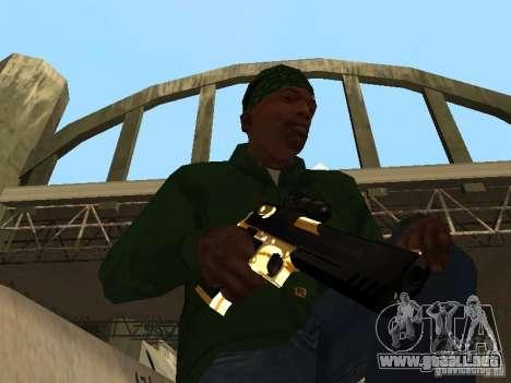 Armas de Pak de oro para GTA San Andreas sucesivamente de pantalla