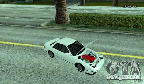 Nissan Silvia S13 Old School para GTA San Andreas vista posterior izquierda