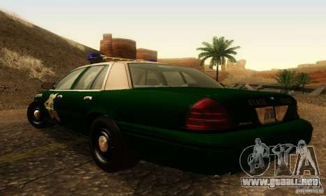 Ford Crown Victoria New Hampshire Police para GTA San Andreas left