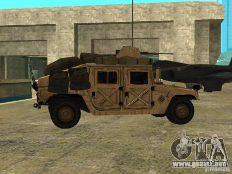 Hummer H1 HMMWV with mounted Cal.50 para GTA San Andreas left