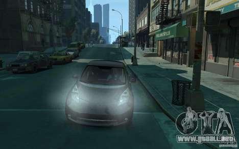 Nissan Leaf 2011 para GTA 4 vista hacia atrás