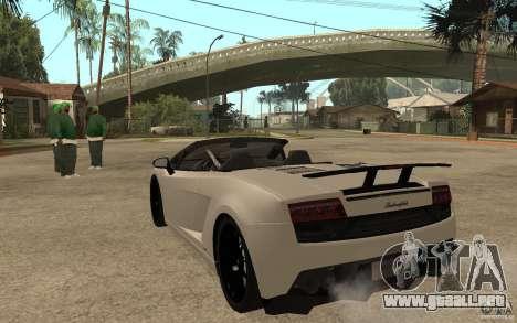 Lamborghini Gallardo LP570-4 para GTA San Andreas vista posterior izquierda