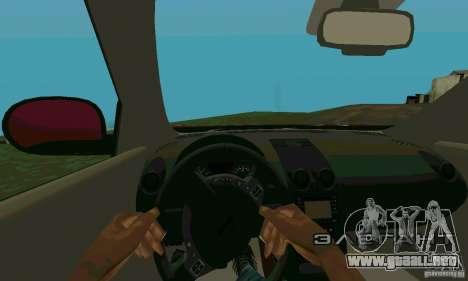 Nissan Juke para GTA San Andreas vista hacia atrás
