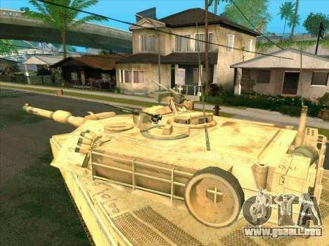 M1A2 Abrams de COD4: MW para GTA San Andreas vista posterior izquierda