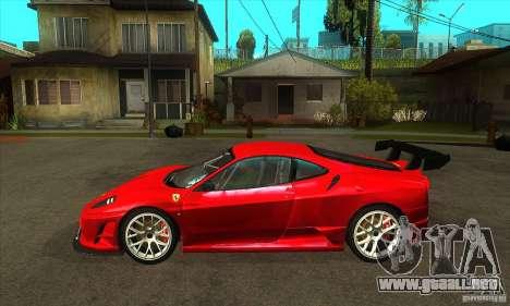 Ferrari F430 Scuderia 2007 FM3 para GTA San Andreas left