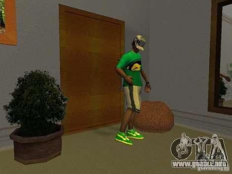 Nuevas zapatillas verdes para GTA San Andreas segunda pantalla