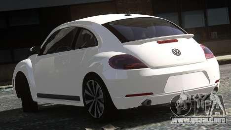 Volkswagen Beetle Turbo 2012 para GTA 4 Vista posterior izquierda