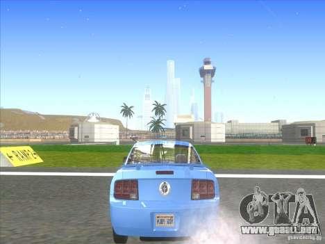 Ford Mustang Pony Edition para GTA San Andreas vista posterior izquierda