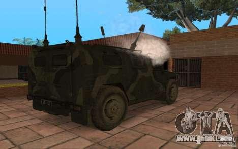 Gaz 2975 tigre para la visión correcta GTA San Andreas
