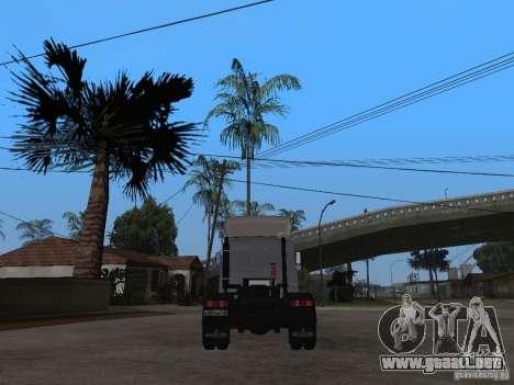 MAZ 543205 Tuning para GTA San Andreas vista posterior izquierda