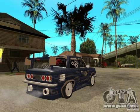 ZAZ-968 m STREET melodía para GTA San Andreas vista posterior izquierda