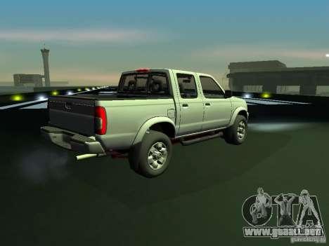 Nissan Frontier para GTA San Andreas vista posterior izquierda