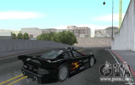 Mercedes-Benz CLK GTR road version (v2.0.0) para la visión correcta GTA San Andreas