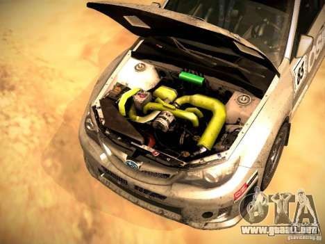 Subaru Impreza Gravel Rally para vista inferior GTA San Andreas
