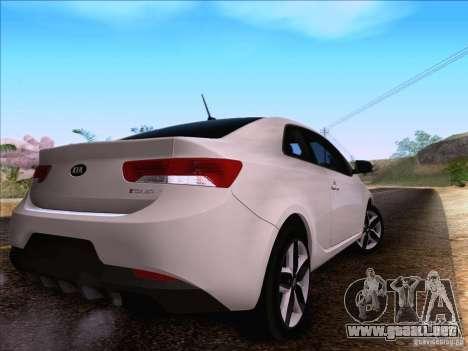 Kia Forte Koup SX para GTA San Andreas vista hacia atrás