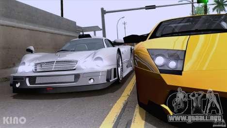 Mercedes-Benz CLK GTR Road Carbon Spoiler para la visión correcta GTA San Andreas