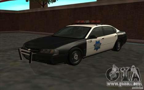 Chevrolet Impala 2003 SFPD para GTA San Andreas
