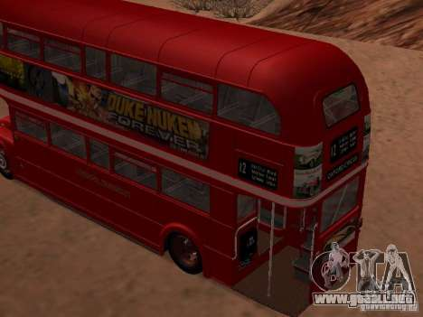 AEC RouteMaster RML para GTA San Andreas left