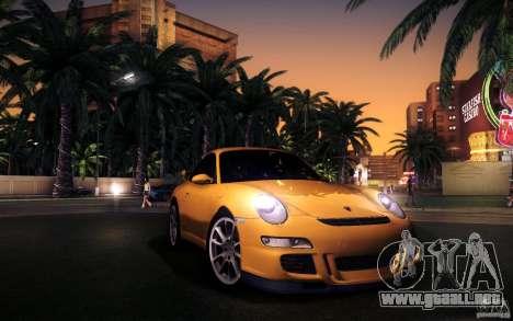 Porsche 911 GT3 (997) 2007 para vista inferior GTA San Andreas