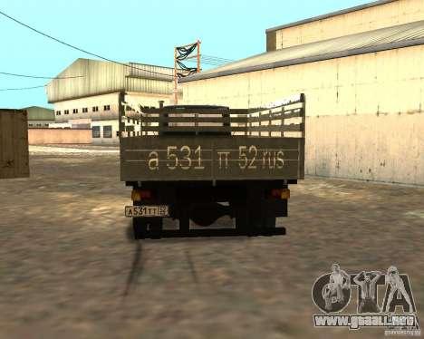 GAZ 3309 para visión interna GTA San Andreas