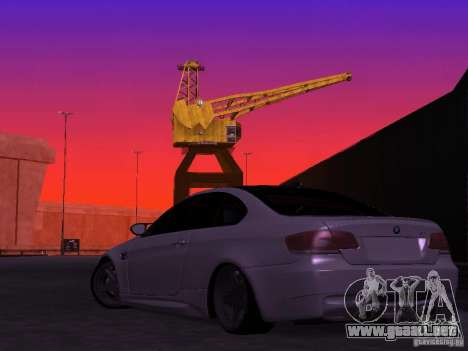BMW M3 E92 Drift para GTA San Andreas left
