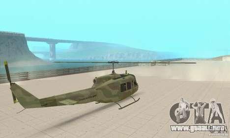 UH-1 Iroquois (Huey) para GTA San Andreas left